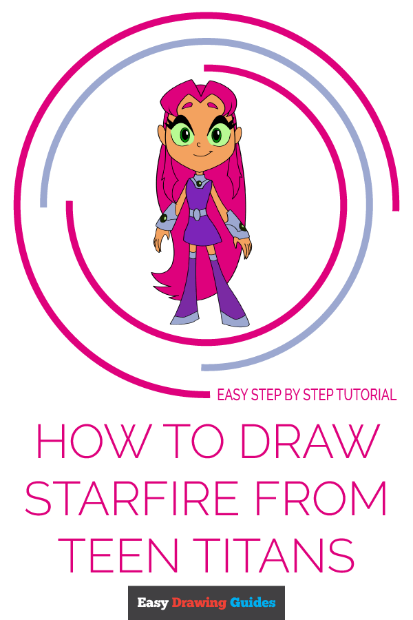 How to Draw Starfire from Teen Titans | Share to Pinterest