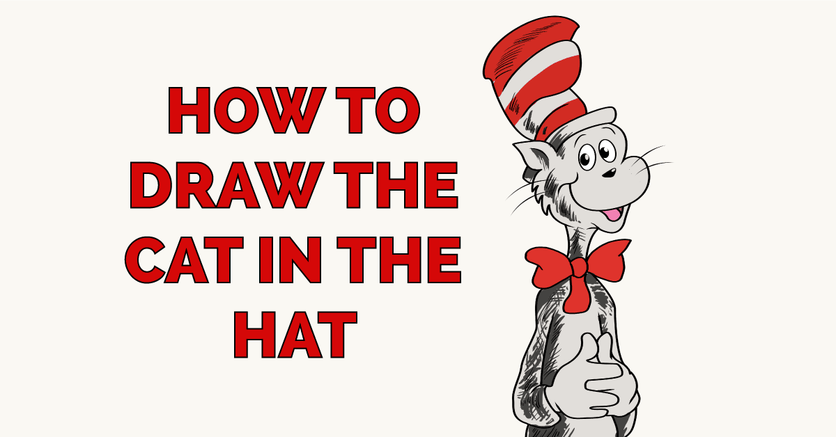 How to Draw The Cat in The Hat Featured Image