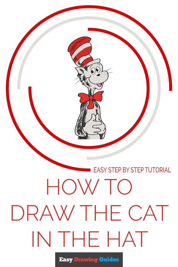 How to Draw The Cat in The Hat Pinterest Image