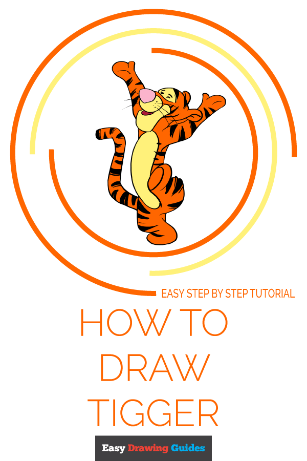 How to Draw Tigger | Share to Pinterest