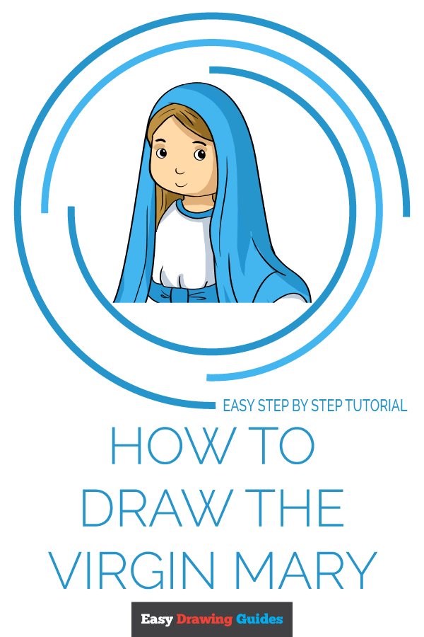 How to Draw Virgin Mary | Share to Pinterest