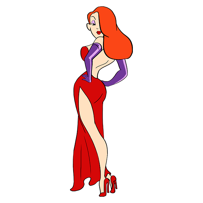 How to Draw Jessica Rabbit: Step 10