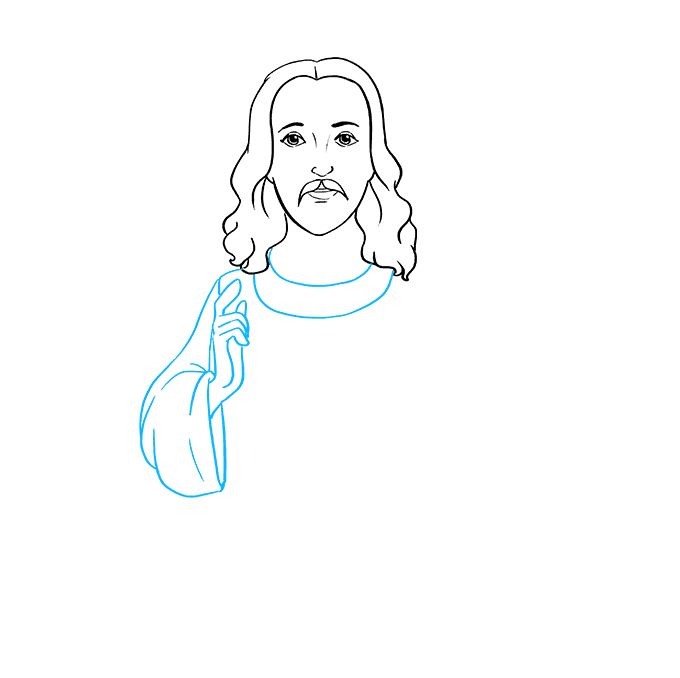 How to Draw Jesus: Step 4