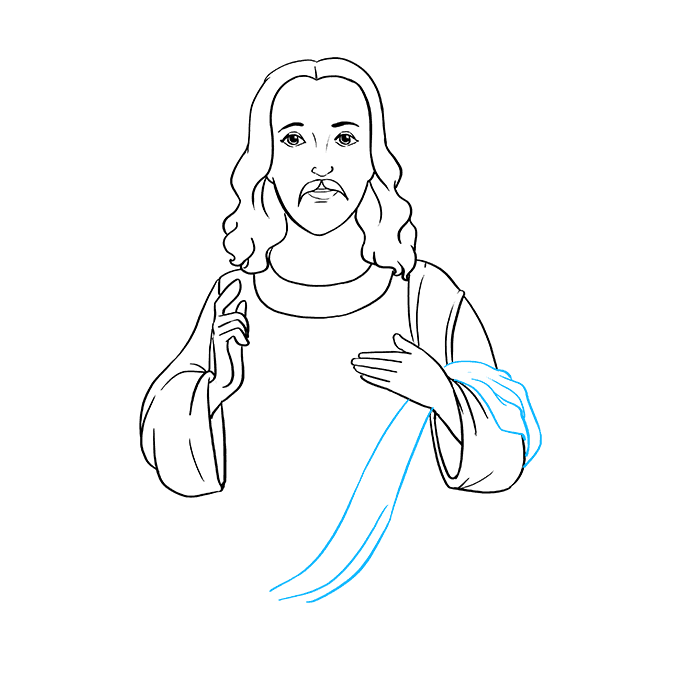 How to Draw Jesus: Step 6