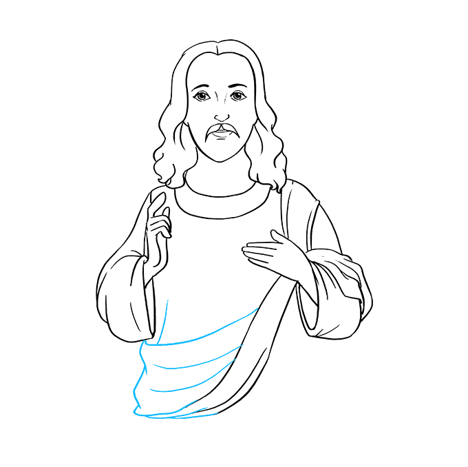 How to Draw Jesus: Step 7
