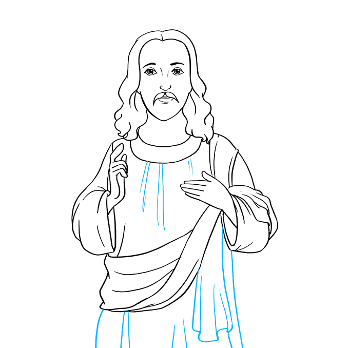 How to Draw Jesus: Step 8
