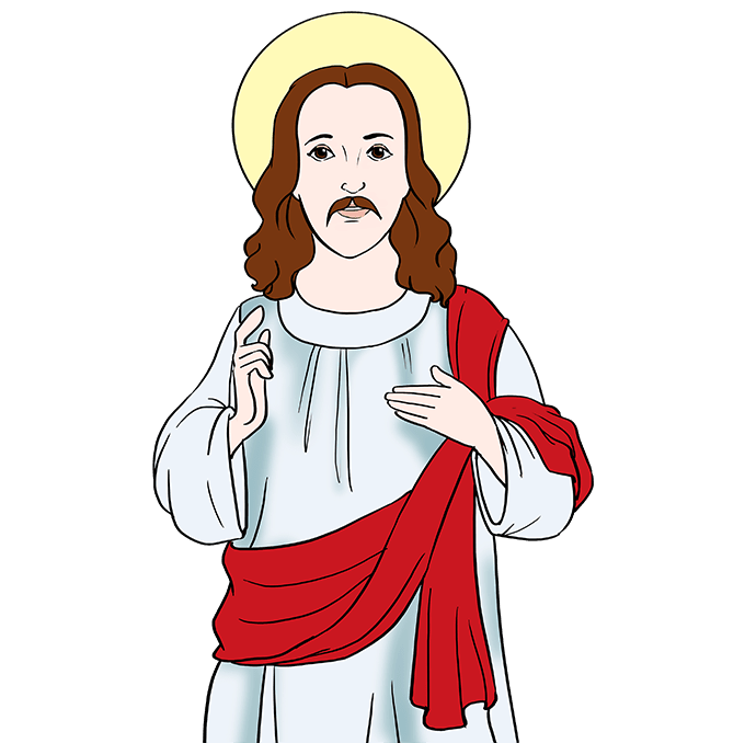 How to Draw Jesus: Step 10