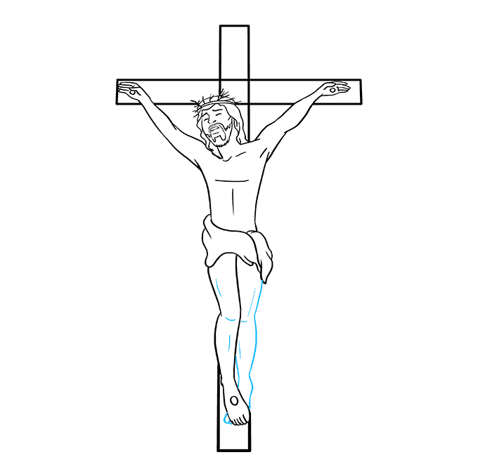 How to Draw Jesus on the Cross: Step 9