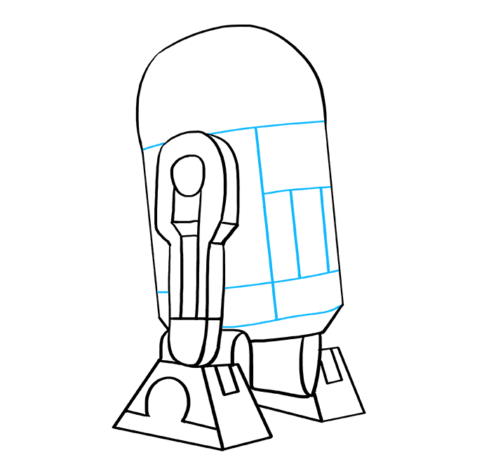 How to Draw R2-D2 from Star Wars: Step 8