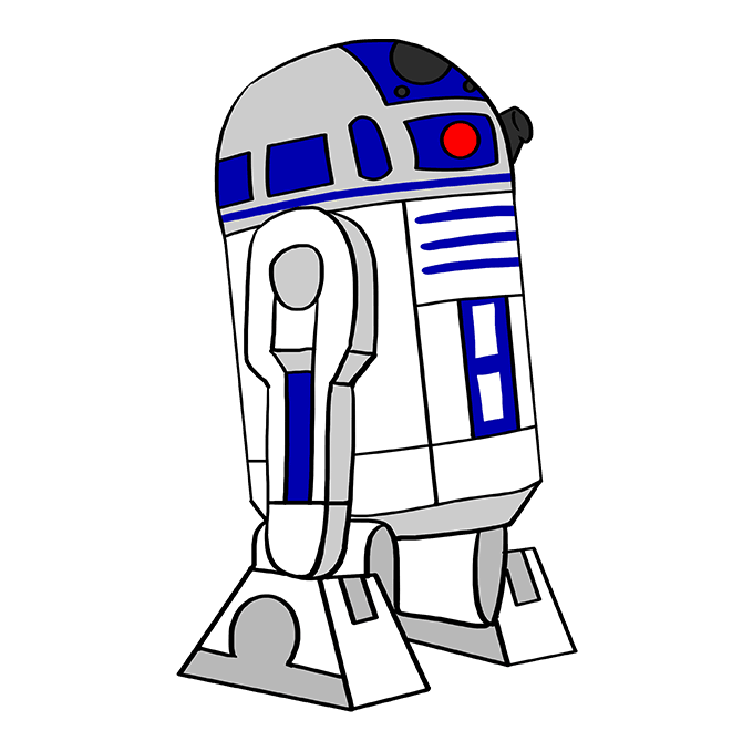 How to Draw R2-D2 from Star Wars: Step 10