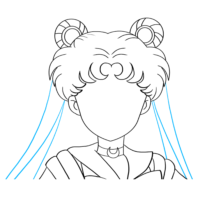 How to Draw Sailor Moon: Step 8