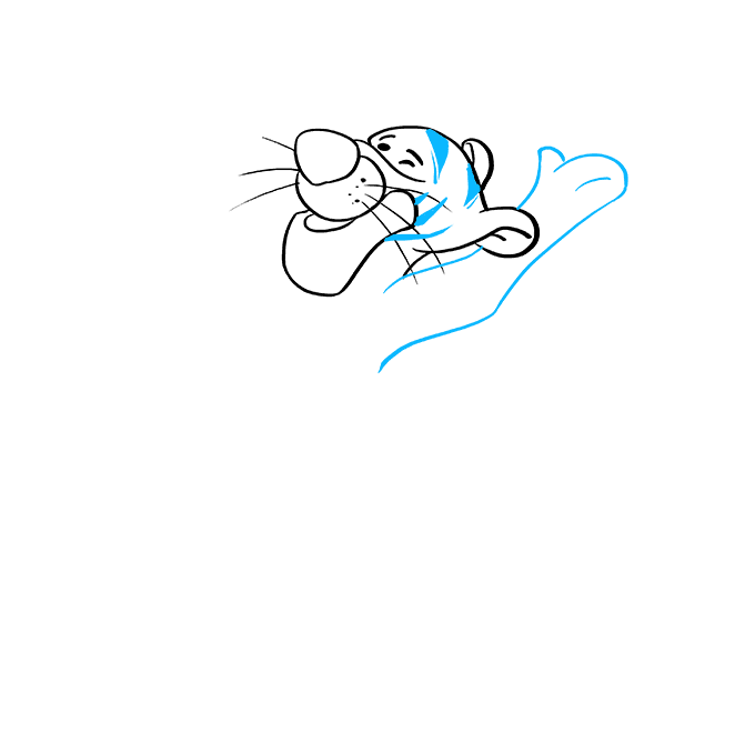 How to Draw Tigger: Step 4