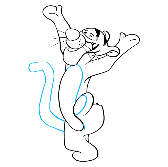 How to Draw Tigger: Step 8