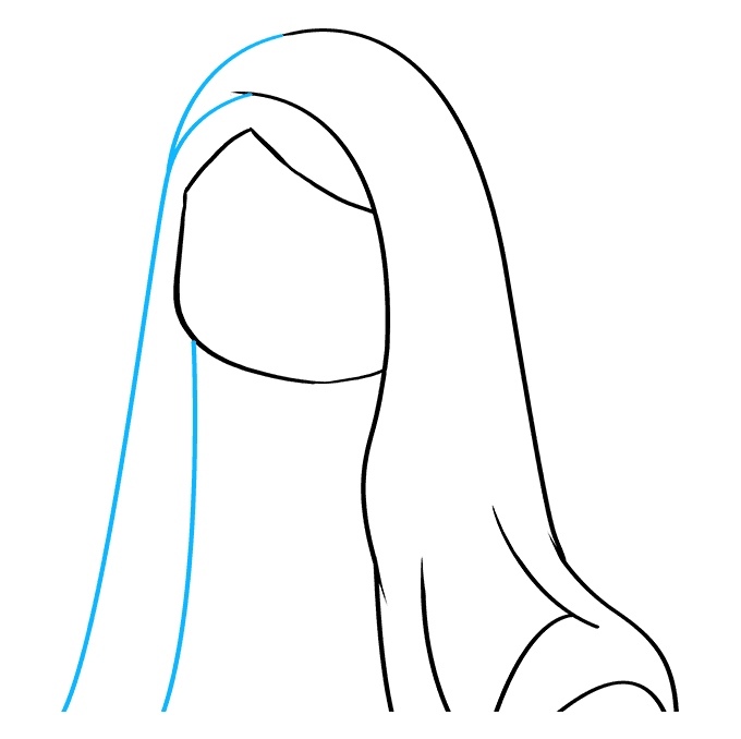 How to Draw Virgin Mary: Step 3