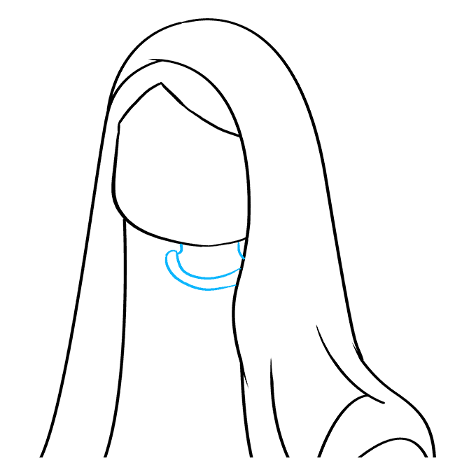 How to Draw Virgin Mary: Step 4