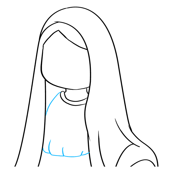 How to Draw Virgin Mary: Step 5