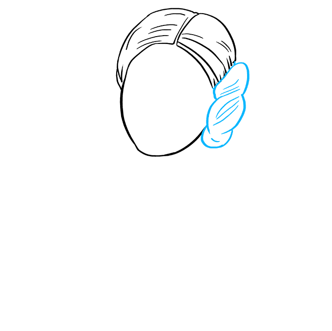 How to Draw Princess Leia: Step 4