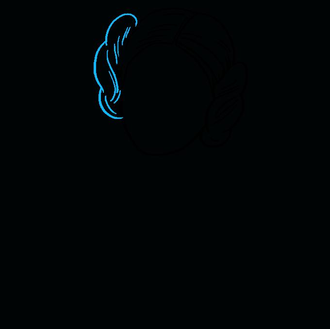How to Draw Princess Leia Step 05
