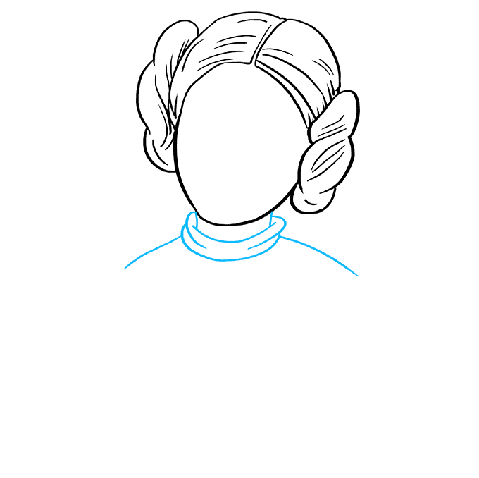 How to Draw Princess Leia: Step 6