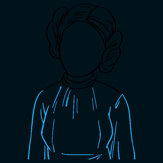 How to Draw Princess Leia Step 07