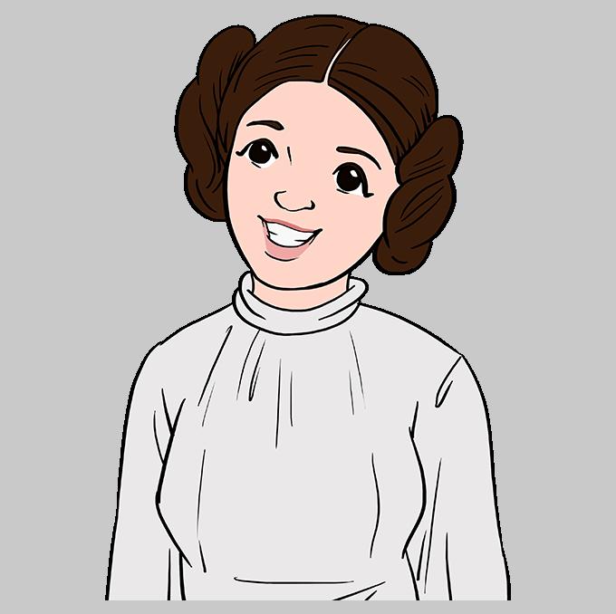 How to Draw Princess Leia Step 10