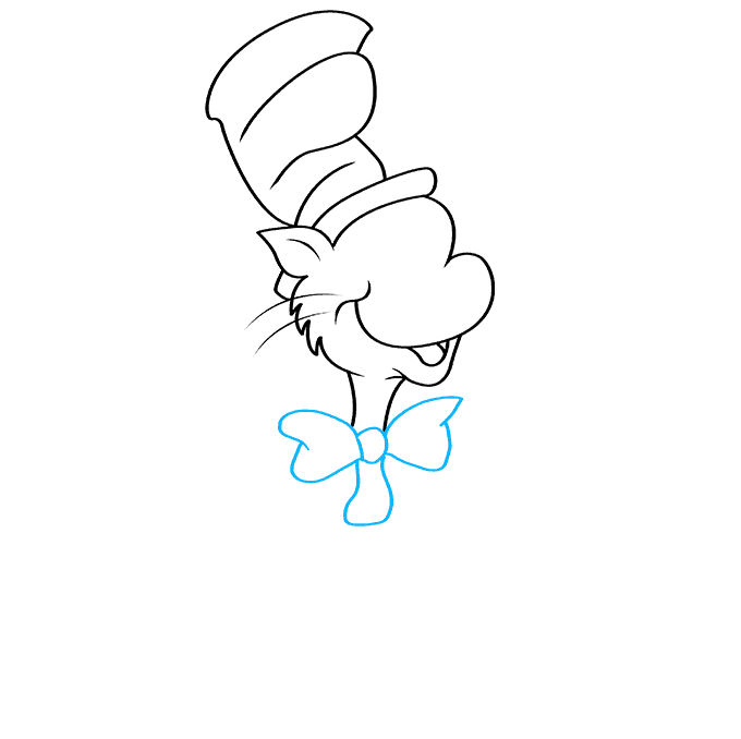 How to Draw The Cat in The Hat Step 05