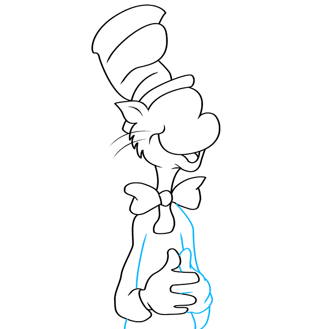 How to Draw The Cat in The Hat Step 07