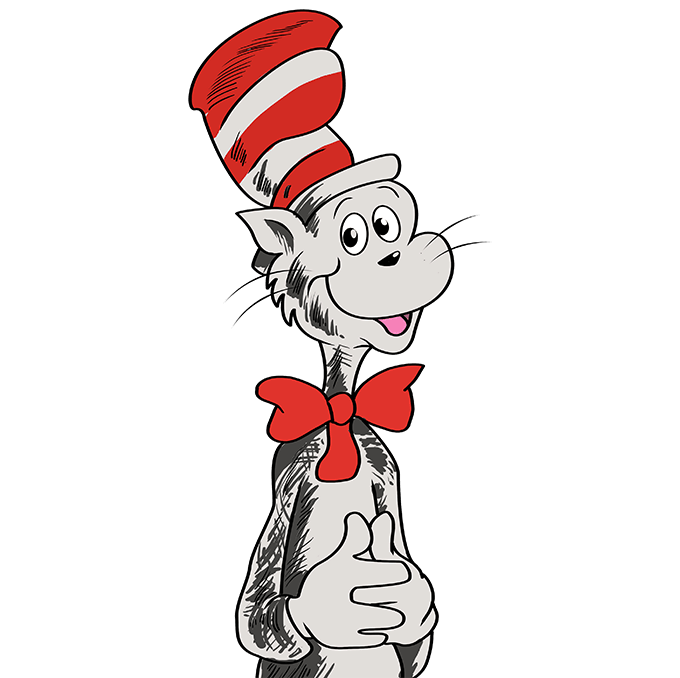 How to Draw The Cat in The Hat Step 10