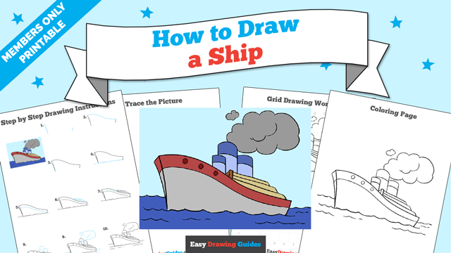 download a printable PDF of Ship drawing tutorial