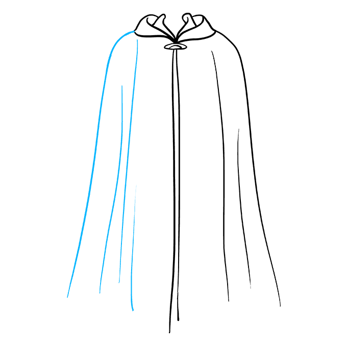 How to Draw Cape: Step 7