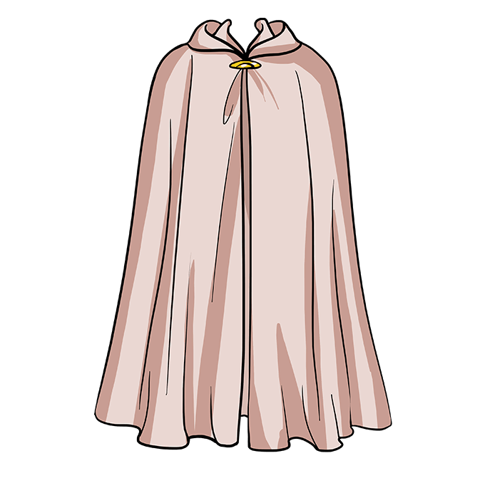 How to Draw Cape: Step 10