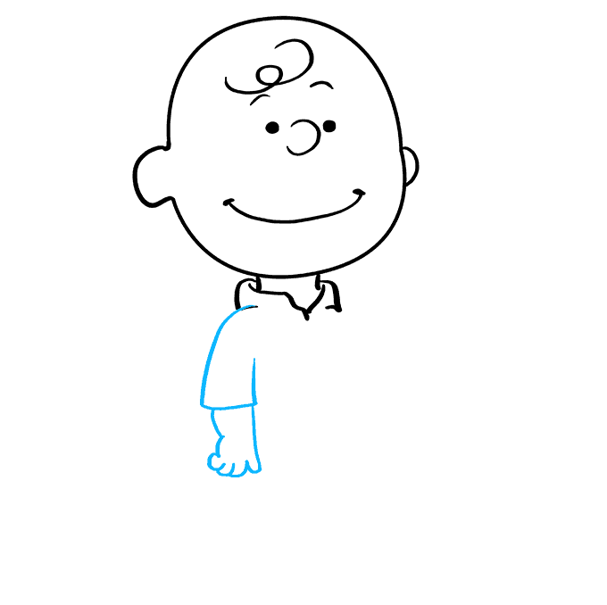 How to Draw Charlie Brown: Step 5