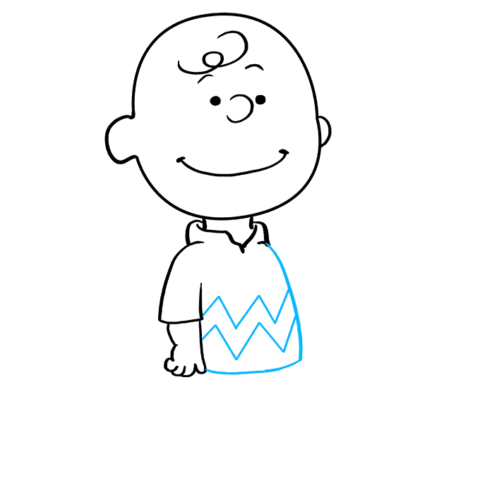How to Draw Charlie Brown: Step 6
