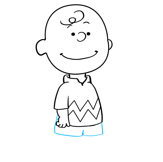 How to Draw Charlie Brown: Step 7