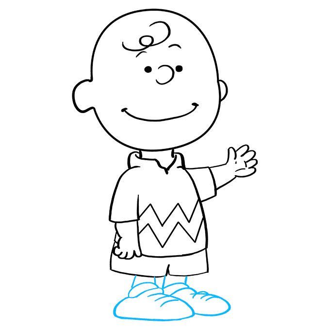 How to Draw Charlie Brown: Step 9