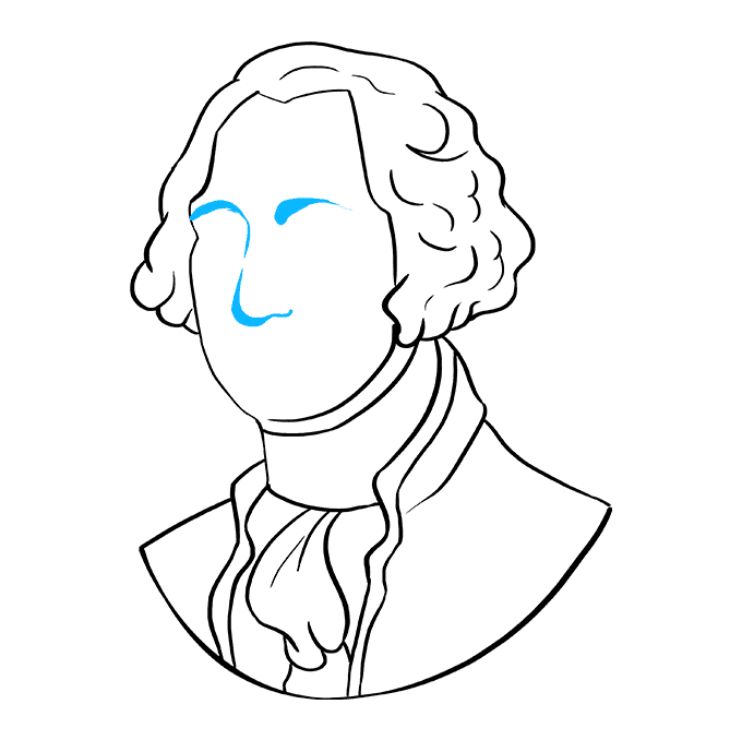 How to Draw George Washington: Step 7