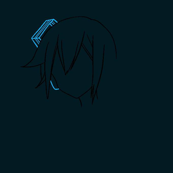How to Draw Hatsune Miku: Step 3