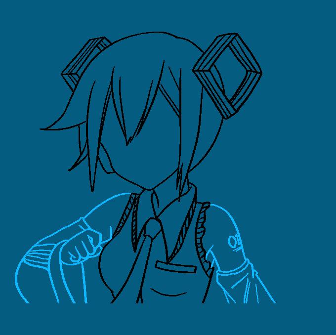 How to Draw Hatsune Miku Step 07