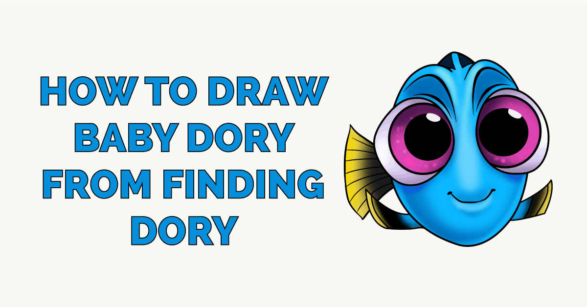 How to Draw Baby Dory from Finding Dory Featured Image