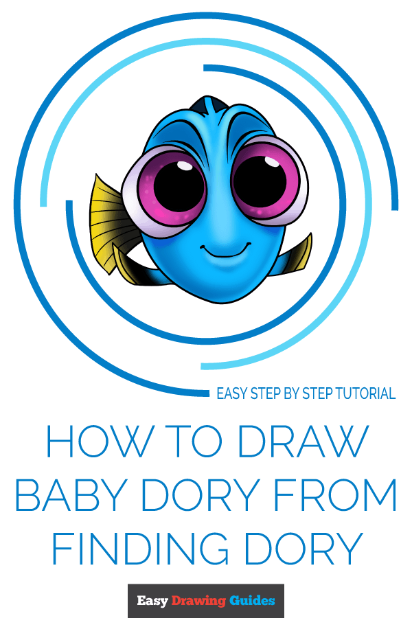 How to Draw Baby Dory from Finding Dory | Share to Pinterest