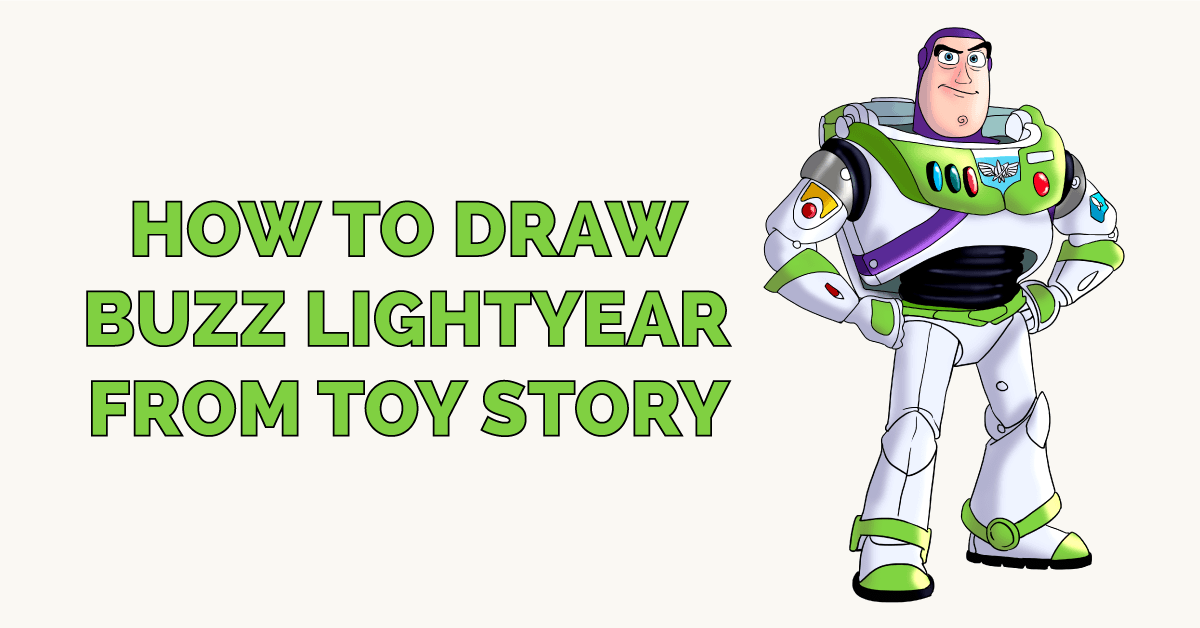 How to Draw Buzz Lightyear from Toy Story Featured Image