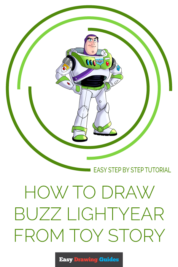 How to Draw Buzz Lightyear from Toy Story | Share to Pinterest
