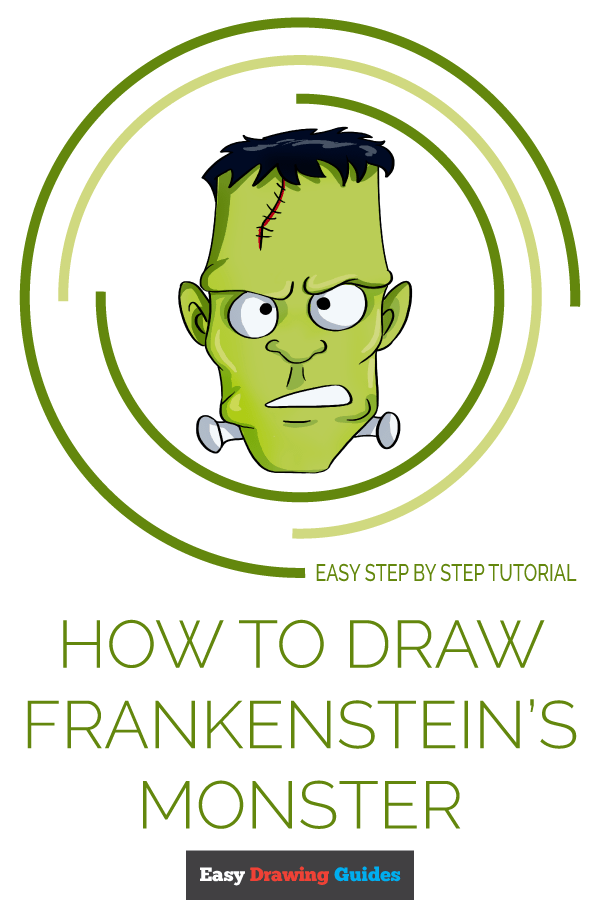 How to Draw Frankenstein's Monster | Share to Pinterest