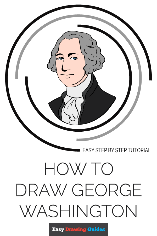 How to Draw George Washington | Share to Pinterest