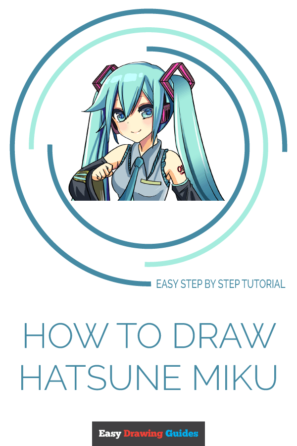 How to Draw Hatsune Miku | Share to Pinterest