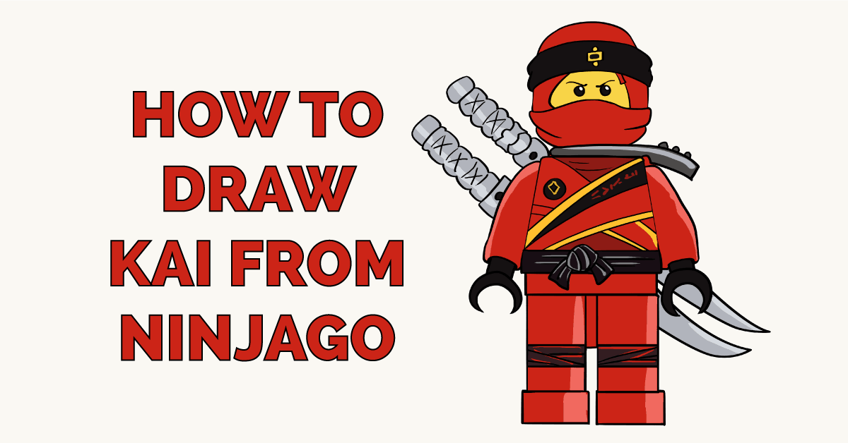 How to Draw Kai from Ninjago Featured Image