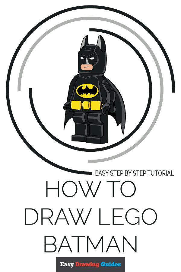 How to Draw Lego Batman Pinterest Image