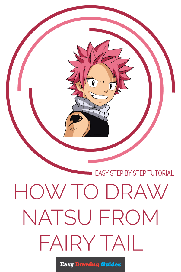 How to Draw Natsu from Fairy Tail Pinterest Image