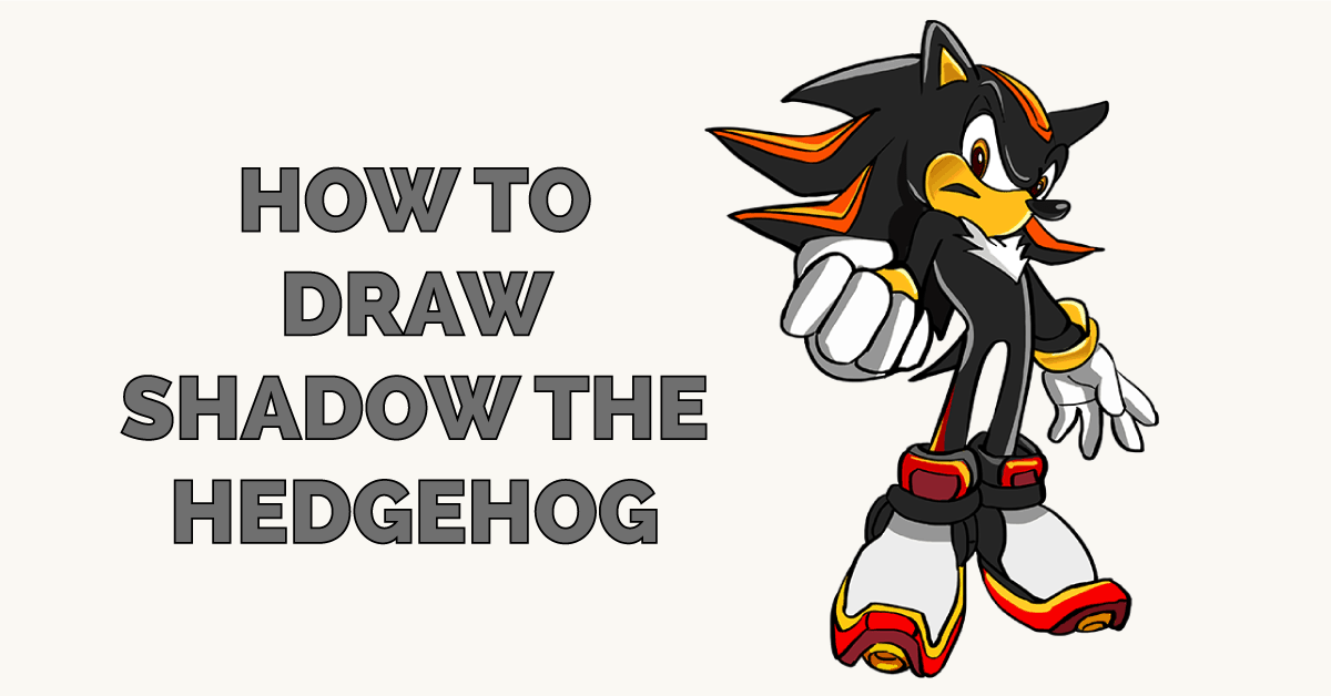 How to Draw Shadow the Hedgehog Featured Image