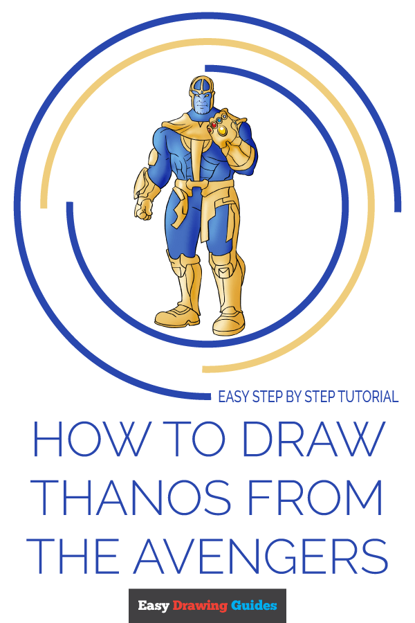 How to Draw Thanos from the Avengers | Share to Pinterest